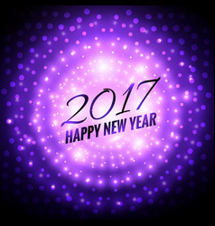 glowing 2017 party celebration background in vector image