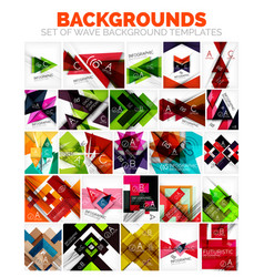 Set of triangle and arrow abstract vector