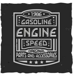 vintage label design with lettering composition on vector image