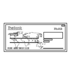 bank check icon line design vector image
