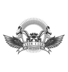 biker club retro emblem vector image