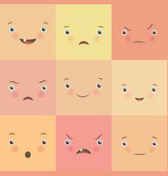 Emotion flat set vector