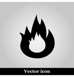 Flat Bonfire icon on grey background vector image