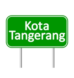 Kota tangerang road sign vector