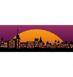 nightly city vector image vector image