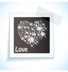 Paper tape love tag vector image vector image