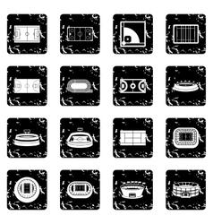 Sport stadium icons set simple style vector image