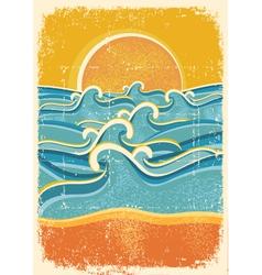 vintage summer poster vector image vector image
