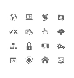 Web hosting icons vector image vector image