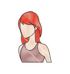 Beautiful student girl character avatar image vector