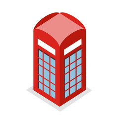call box in isometric projection vector image