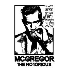 conor-mcgregor-mma-fighter vector image