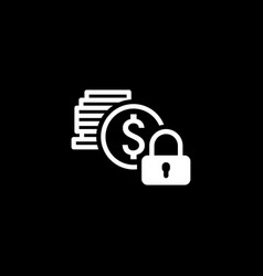Secured loan icon flat design vector