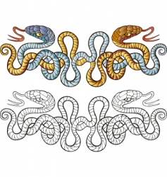 snakes tattoo design vector image