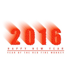 2016 happy new year text background of fiery ball vector image