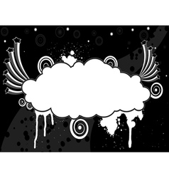 Abstract black and white background with stars and vector image vector image
