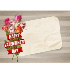 Happy Valentines Day background EPS 10 vector image vector image