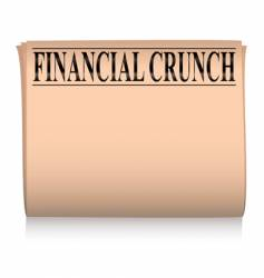 newspaper pink financial vector image