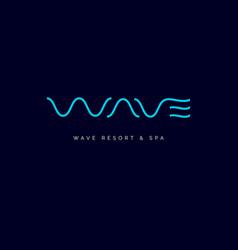 wave line spa logo vector image