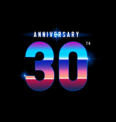30 years anniversary celebration logotype vector image