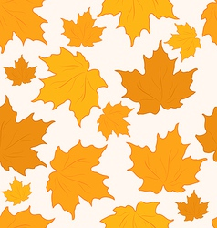 Autumnal maple leaves seamless background vector image