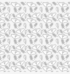 Beautiful gray floral pattern background vector