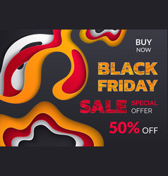 black friday flyer special offer 50 percent vector image