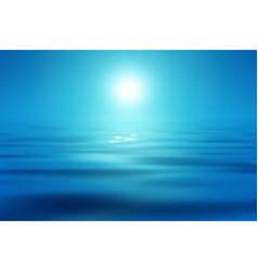 blue sea and sun vector image