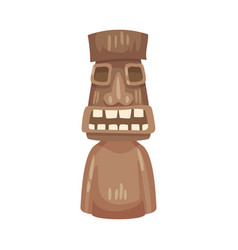 brown totem on a white vector image