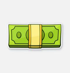 Bundle paper money vector