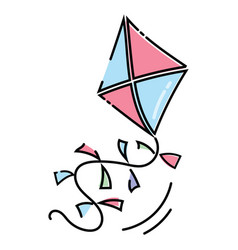 cartoon kite flying a toy vector image