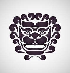 Chinese lion logo vector