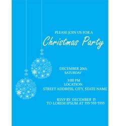 Christmas Ball invitation vector