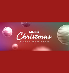 christmas banner abstract background vector image