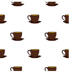 Cup pattern seamless vector