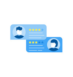 customer review rating messages online review vector image