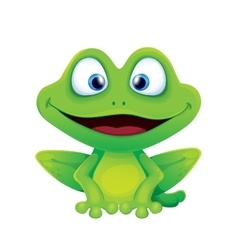 Cute Funny Frog Smiling vector image