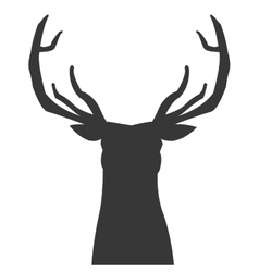 Deer silhouette icon vector