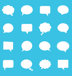Empty white speech bubbles vector