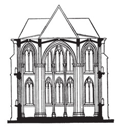 Fan-tracery of cloisters of gloucester cathedral vector
