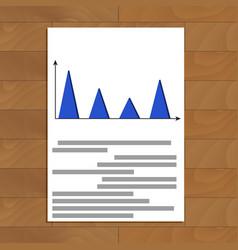 Finance document infochart vector