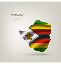 flag of Zimbabwe as a country vector image