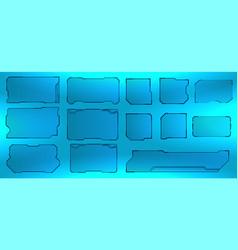 Futuristic hud user interface screen vector
