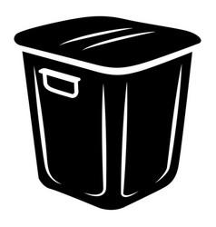 garden bucket icon simple style vector image