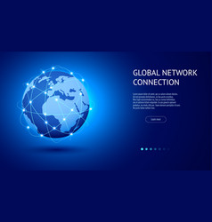 Global network connection concept best internet vector