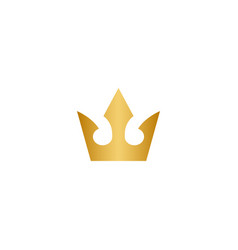 gold crown logo icon element vector image