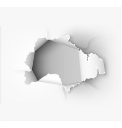 hole torn in ripped paper vector image