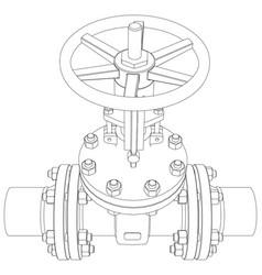 industrial valve rendering of 3d vector image