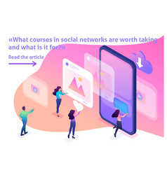 Isometric learning create profile social networks vector