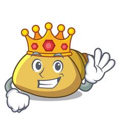 King mollusk shell mascot cartoon vector